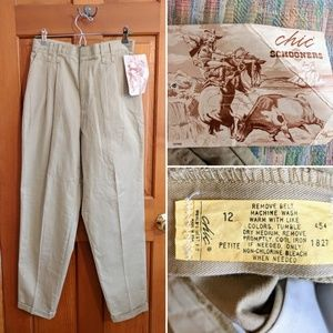 Vintage NWT high-waisted Chic Schooner khakis